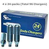 Soda Sparkle Co2 Gas Seltzer Cartridges Compatible w/ SodaSparkle Soda Maker, 96-Chargers