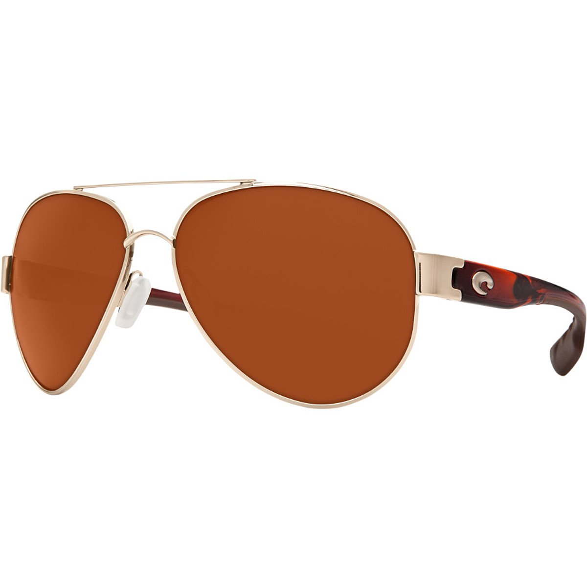 Costa Del Mar Mens South Point Sunglasses Rose Gold with Light Tortoise Frame Temples Copper Pro-Motion Distributing Direct SO84OCGLP