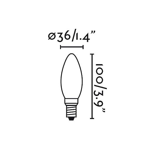 Faro Barcelona E14 LED 17427 - Bombilla (bombilla incluida) LED, 2W, aluminio