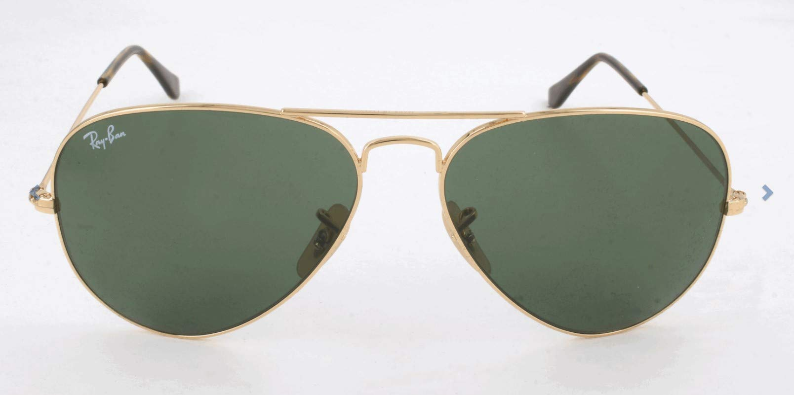 RAY-BAN RB3025 Aviator Large Metal Sunglasses, Gold/Crystal Green, 62 mm by RAY-BAN