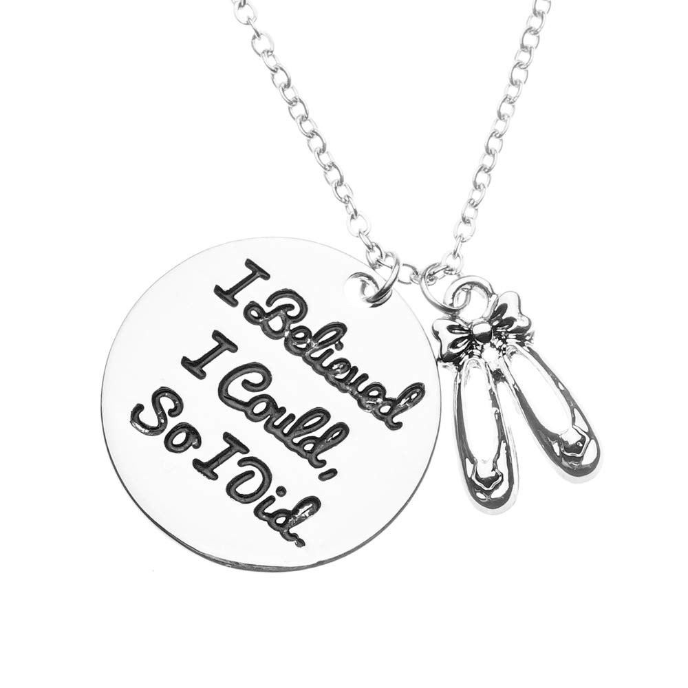 Sportybella Dance Necklace Girls Dance I Believed I Could So I Did Jewelry for Dancers Dance Recitals Dance Teams Dance Teachers