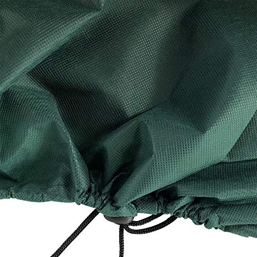 Ecover Dustproof Lawn Mower Cover Riding Lawn Tractor Cover UV Protection Universal Fit with Drawstring Cover Storage Bag, L6.4 x W4.6 x H4.6ft Dark Green
