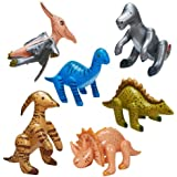 Jumbo Inflatable Dinosaurs ( 6 count)