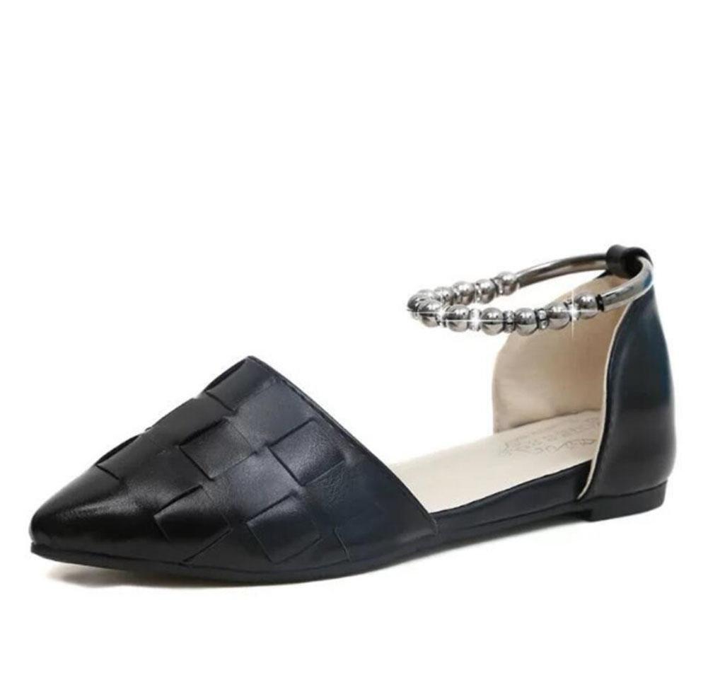 RuiSommer Hohl zeigte flache Schuhe mit dem Wort Student Schuhe