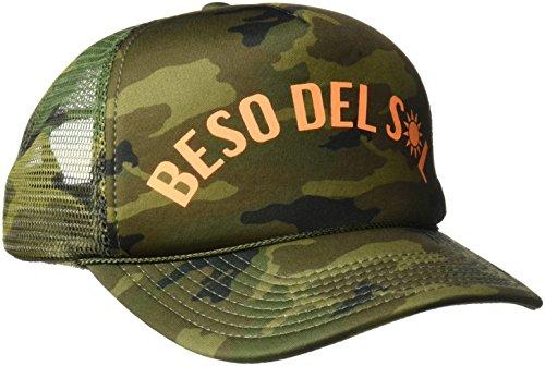 Mesh Screen Print Cap (O'Neill Women's Sun Kiss Screen Print Trucker Hat, Army/Army, One Size)