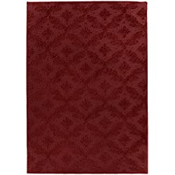 Garland Rug Charleston Area Rug, 9' x 12', Chili Pepper Red