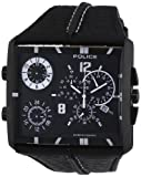 Police Men's Tripod PL.13497JSB/02B Black Leather Quartz Watch with Black Dial