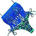 JIANLANPTT Women Sexy Bikini Padded Set Floral Swimwear Tassel Swimsuits SML