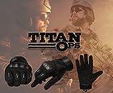 TitanOPS Full Finger Hard Knuckle Motorcycle