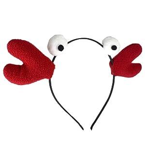 Red Novelty Lobster Crab Crawfish Seafood Felt Headband Costume Accessory