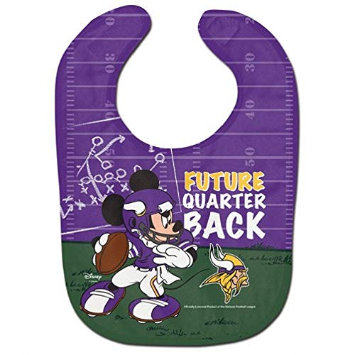 WinCraft NFL Minnesota Vikings All Pro Style Baby Bib, One Size, Team Color