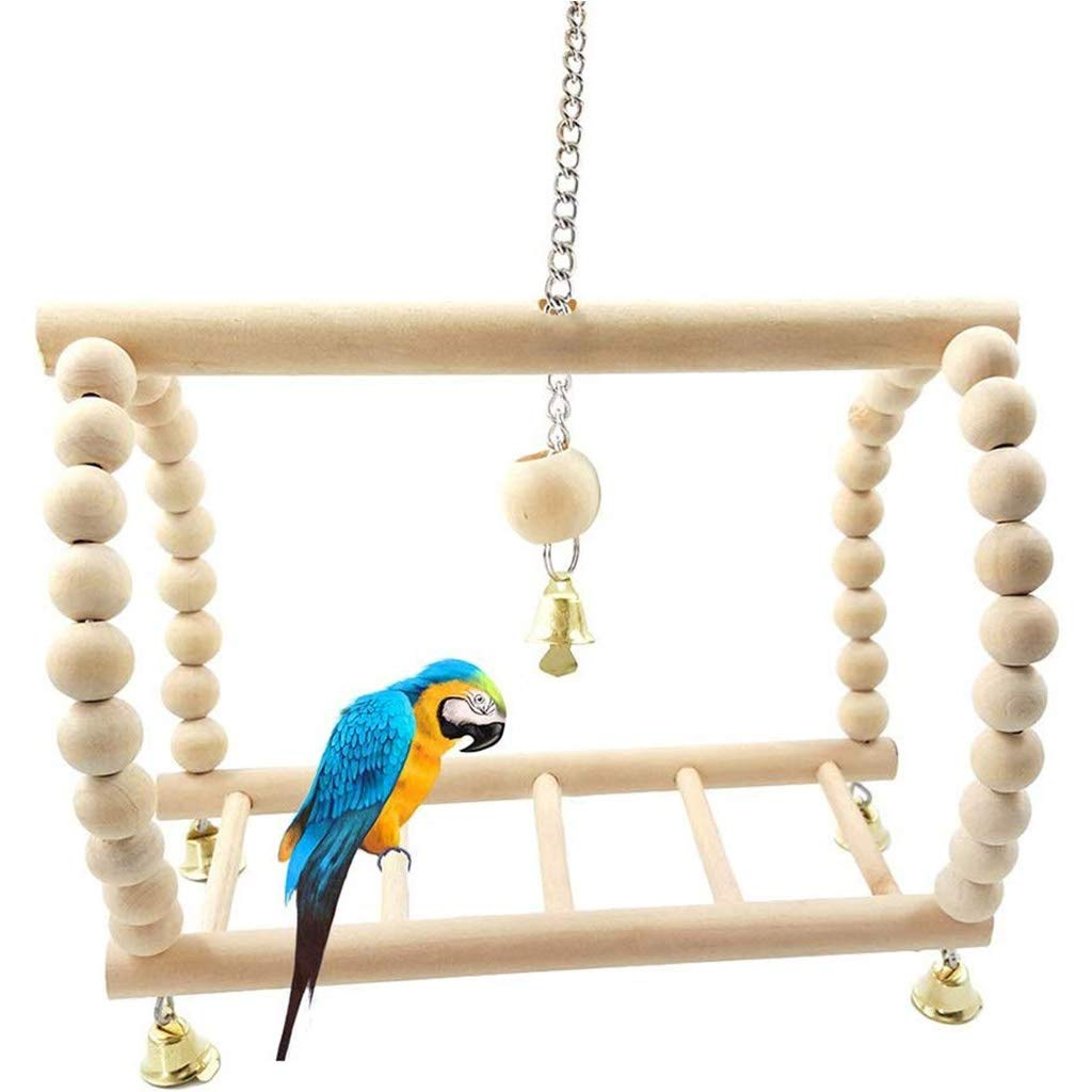 Bird toy Parrot Toys Bird Suspension Bridge Ladder Swing Hanging Climbing Frame Squirrel Parrot Hamsters Cage Accessory by Bird toy
