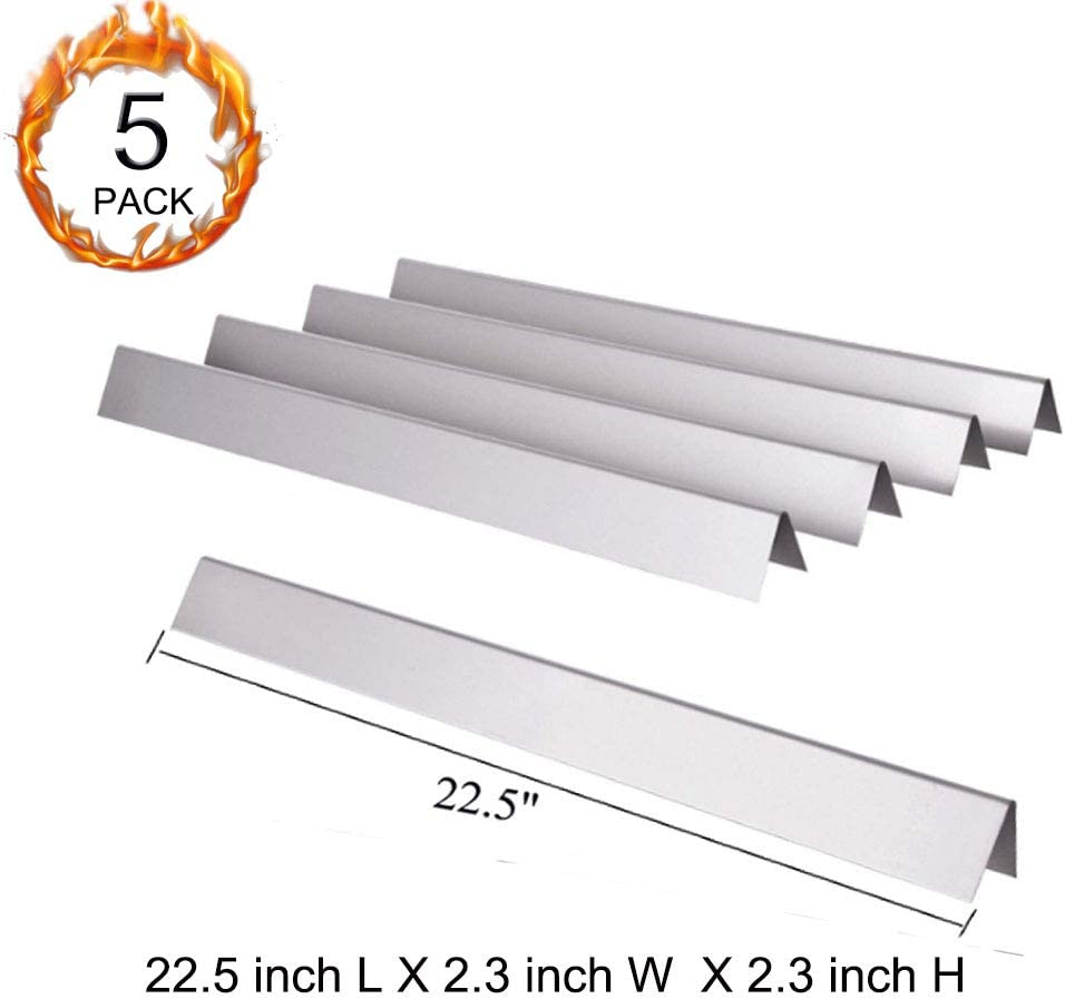 22.5 x 2.25 x 2.375 5 REPL Stainless Flavorizer Bars fits Weber Grills # 7537