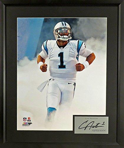 """Carolina Panthers Cam Newton """"Superman!"""" 11x14 Photograph (SGA Signature Series) Framed"""