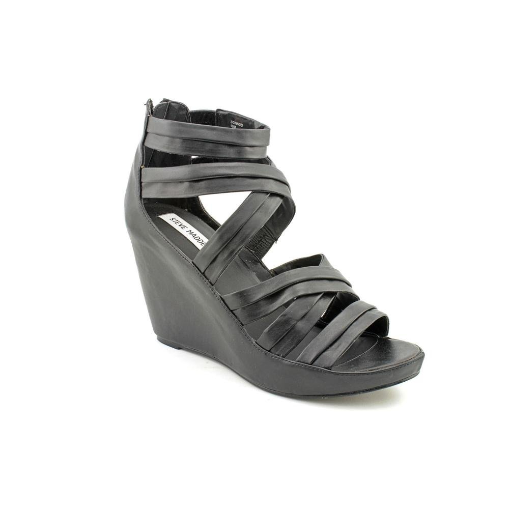 bfcbed445b9 Steve Madden BONNDD Open Toe Wedge Sandals Shoes Womens  Amazon.co.uk   Shoes   Bags