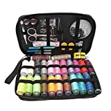 BIGTEDDY - 96pc Professional Embroidery Sewing Supplies Tools Travel Emergency Sew Beginner Accessories Kit for Home Office Dress and Clothes Repair Threads and Needles and much more