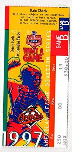 (1997 Orioles Indians ALCS Game 2 Ticket Stub Cal Ripken Jr. Home Run 129019 )