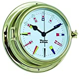 Weems and Plath Endurance II 135 Quartz Clock 12 Hour Flag Dial, Brass