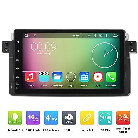 ancluu 9 pulgadas Full pantalla táctil Android 6.0 coche reproductor de vídeo para Bmw E46 3 Series M3 coche Radio estéreo GPS navegación con Canbus: ...