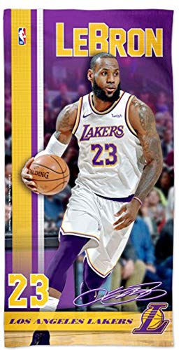 WinCraft Lebron James Los Angeles Lakers Beach Towel with Premium Spectra Graphics, 30 x 60 inches