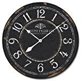 Black & White Wall Clock, Available in 8 sizes, Most Sizes Ship 2 - 3 days, Whisper Quiet.