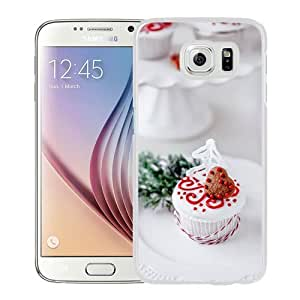 NEW Unique Custom Designed Samsung Galaxy S6 Phone Case With Heart Shape Chocoloate Cookie Cake_White Phone Case