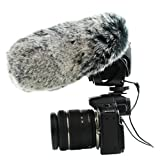 CamDesign Furry Microphone Windscreen Wind Muff up to 19 X 9 cm (L x D) for shotgun mic Microphone TAKSTAR SGC-598 AT897 Canon DM-100 Rode VMGO Video Mic GO / VideoMic Pro with carry bag