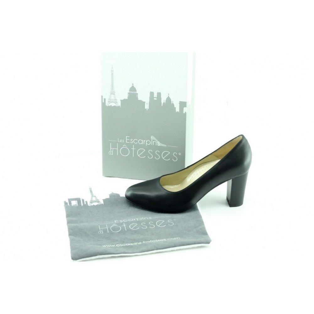 Escarpins d'Hotesses Scarpe Nero col Tacco Tacco Tacco Hostess Marignane  P-nero 4b962b