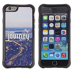 Suave TPU GEL Carcasa Funda Silicona Blando Estuche Caso de protección (para) Apple Iphone 6 / CECELL Phone case / / Journey Fog Blue City Lights Travelling /