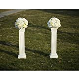 Cloud Mountain 2 PACK Roman Venetian Decoration Wedding Ceremonies Stage Props Column Holds Flower Plates Pillars 26' Tall, White