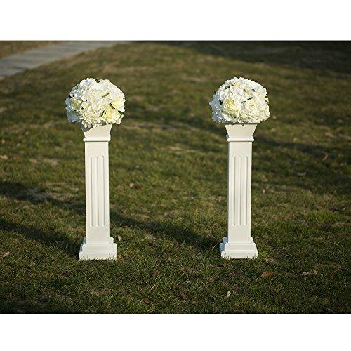 Cloud Mountain 2 Pack Roman Venetian Decoration Wedding Ceremonies Stage Props Column Holds Flower Plates Pillars 26