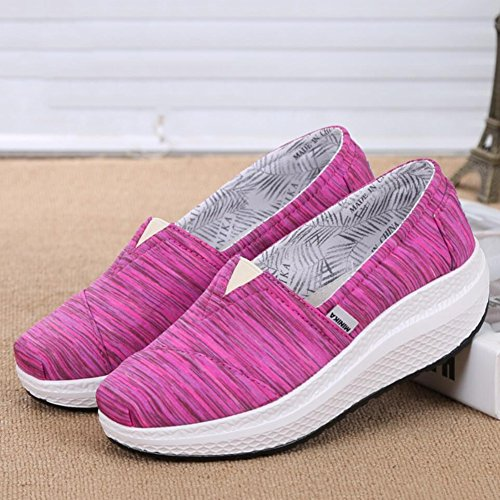 Shoes 35 Driving Loafers XUE Canvas Shake Slip Shoes Size Platform Shaking Shake Ons Fitness Fall Shoes B Women's Shoes A Flat Shoes Color Shoes Spring Athletic Shoes Loafers Sneakers amp; ffHvqzWr