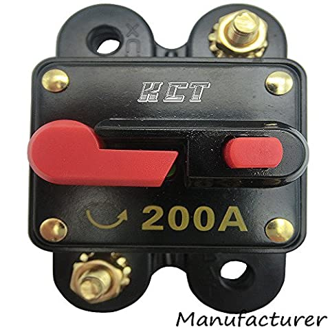 Car Audio Circuit Breaker Reset Fuse 200A For System Protection 12V/24V (Audio De Auto)