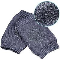 DaKos Baby's Cotton Crawling Anti-Slip Knee Pads (Dark Grey)