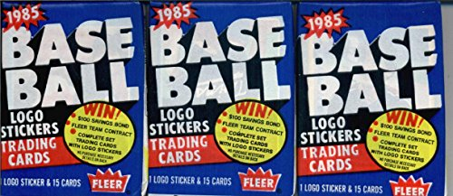 3 Unopened Packs of 1985 Fleer Baseball Cards (15 cards/pack) - Possible Rookies Of Roger Clemens, Kirby Puckett, and more! ()