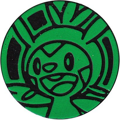 Pokemon Chespin Coin from The Trading Card Game (Large Size) - Green