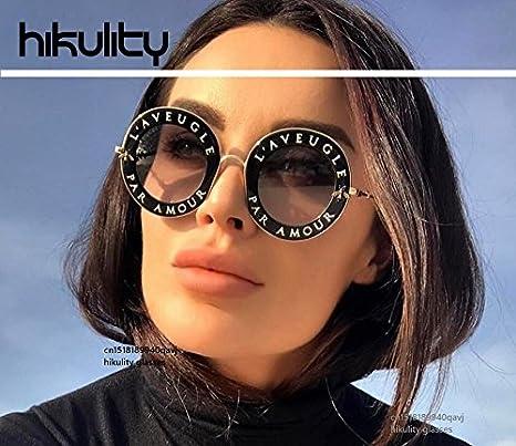 b25b02a7424 High-Season with Cute Bee Vintage Letter Designer Eyewear Frame Round Sunglasses  Women 2018 Ladies