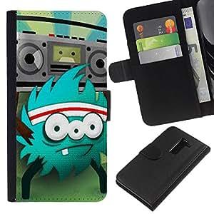 iBinBang / Flip Funda de Cuero Case Cover - Monster Rock Retro Radio Huge - LG G2 D800 D802 D802TA D803 VS980 LS980