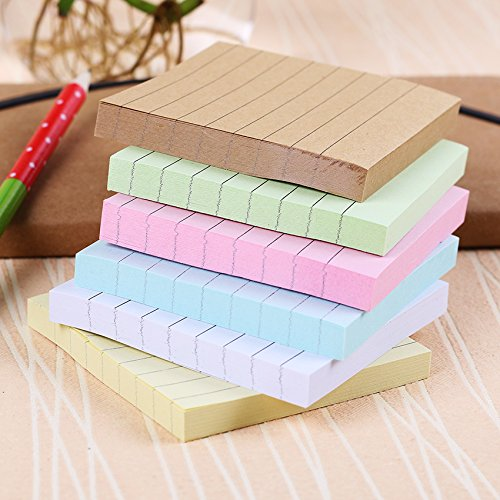 Office Stationery Sticky Notes Square Soild Color Memo Pad 80 Pages Sticker Bookmark Point by Office & School Supplies YingYing (Image #2)