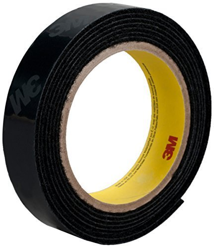 - 3M High Tack Loop Fastener Tape SJ30L Black, 1 in x 25 yd