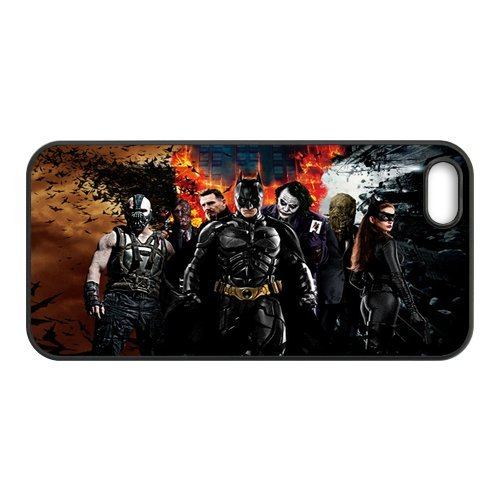 Batman Cool Together The Dark Knight Unique Apple Iphone 5 Durable Hard Plastic Case Cover Personalized Treasure DIY