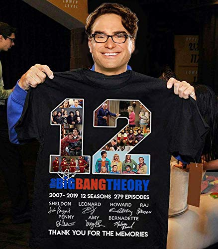 b1c52c41 Amazon.com: The Big Bang Theory 12 Years Thanks You For The Memories  Signature T-Shirt, Sweatshirt, Long Sleeve, Hoodie: Handmade