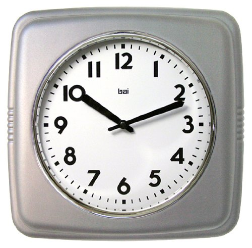 BAI Square Retro Wall Clock, 9.5