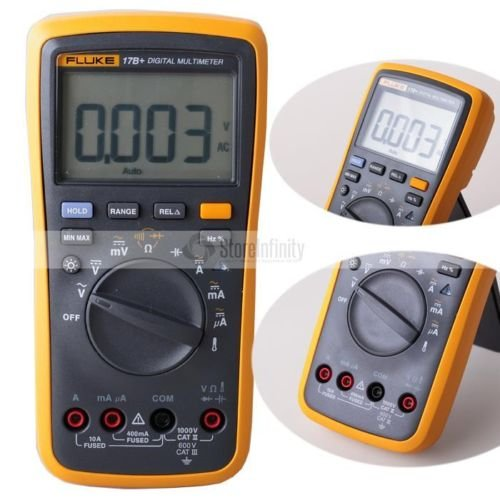FLUKE 17B+ Digital Multimeter w/ Temperature & Frequency (BATTERIES NOT INCLUDED) by Instrukart