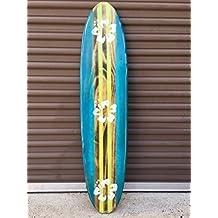 Surfboard wall art. Distressed four foot surfboard wall hanging.