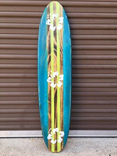 Surfboard wall art. Distressed four foot surfboard wall hanging. by Flyone Boardshop
