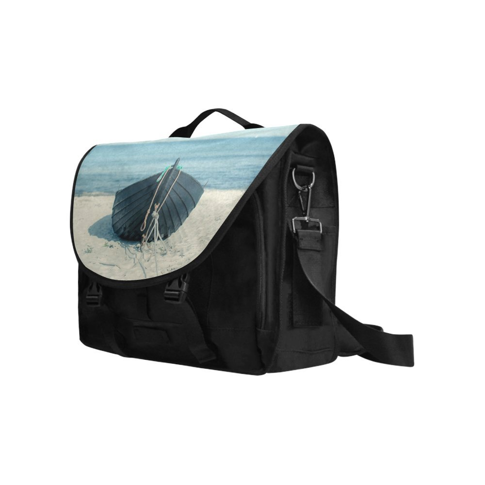 Kitchor Custom Boat On The Beach Oxford Fabric Laptop Messenger Shoulder bag