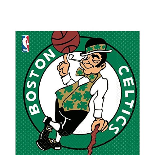 NBA Party Boston Celtics Luncheon Napkins Tableware, 16 Pieces, Made from Paper, by (Find Spirit Halloween Store)