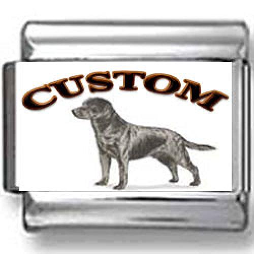Labrador Retriever Dog Custom Photo Italian Charm