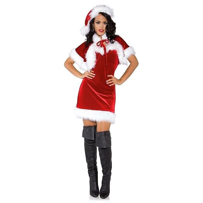 Amazon.com: chsgjy Mrs disfraz de Papá Noel para mujer Sexy ...